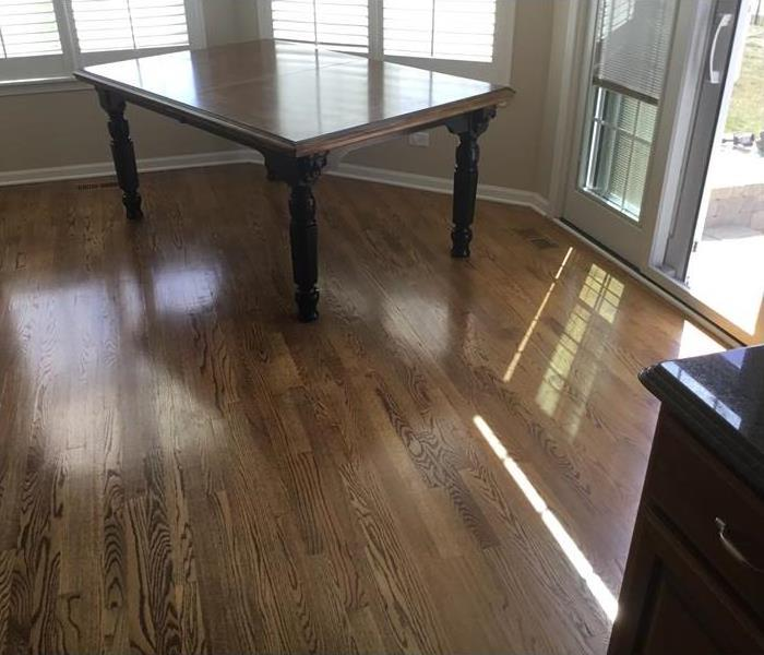 Hardwood floor drying success After